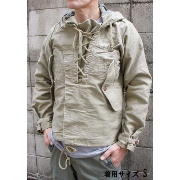 【送料無料】アメリカ海軍 ウェットウェザーパーカー/ジャケット 【 Mサイズ 】 綿100% JP050YN カーキ 【 レプリカ 】