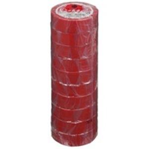 【送料無料】(業務用50セット) ヤマト ビニールテープ/粘着テープ 【19mm×10m/赤】 10巻入り NO200-19 ×50セット