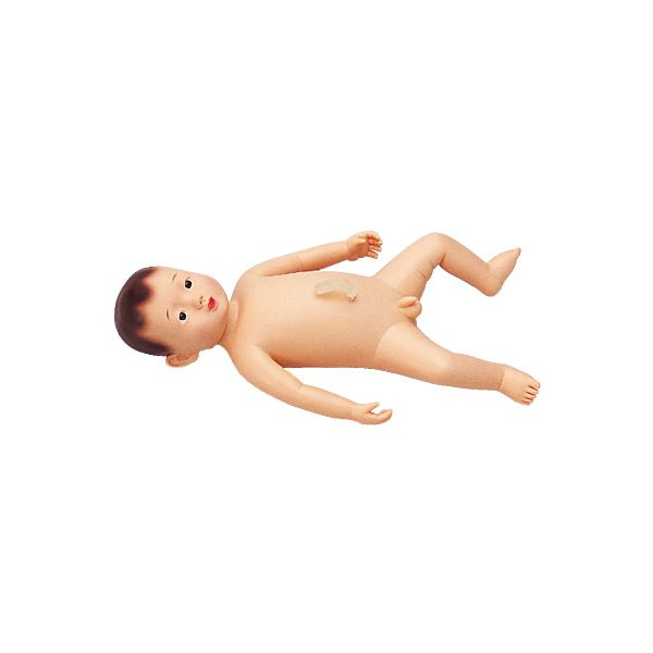 【送料無料】沐浴人形/看護実習モデル人形 【男/護くん】 軟質塩化ビニール製 産着/臍帯付き M-107-1【代引不可】