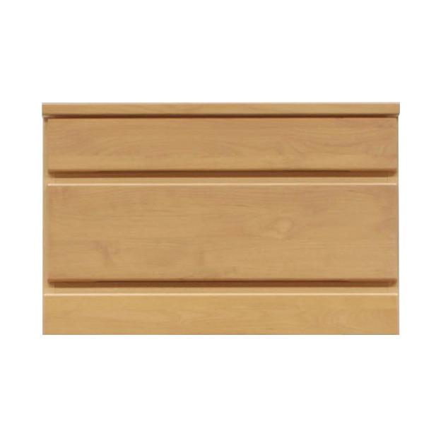 【送料無料】2段チェスト/ローチェスト 【幅60cm】 木製(天然木) 日本製 ナチュラル 【完成品】【代引不可】