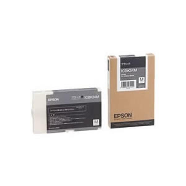 【送料無料】(業務用3セット) 【純正品】 EPSON エプソン インクカートリッジ/トナーカートリッジ 【ICBK54M BK ブラック】