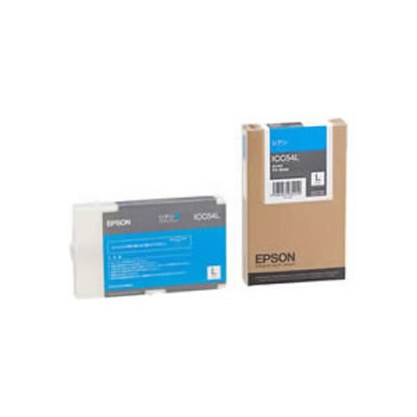 【送料無料】(業務用3セット) 【純正品】 EPSON エプソン インクカートリッジ/トナーカートリッジ 【ICC54L C シアン】