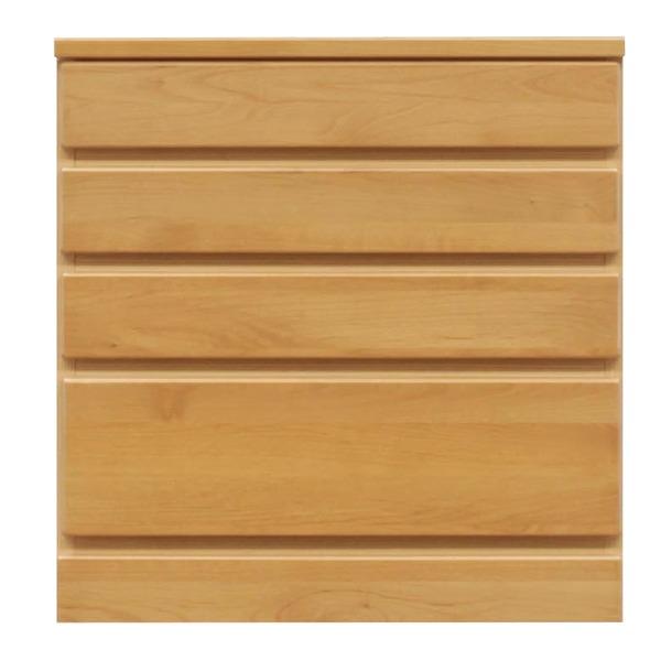 【送料無料】4段チェスト/ローチェスト 【幅60cm】 木製(天然木) 日本製 ナチュラル 【完成品】【玄関渡し】【代引不可】