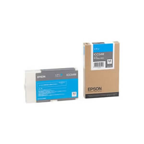 (業務用3セット) 【純正品】 EPSON エプソン インクカートリッジ/トナーカートリッジ 【ICC54M C シアン】