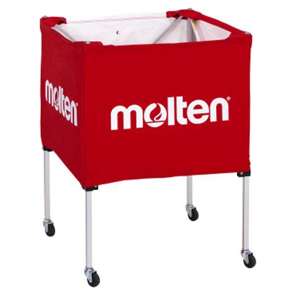 【送料無料】モルテン(Molten) 折りたたみ式ボールカゴ(中・背低) 赤 BK20HLR
