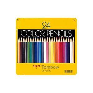 【送料無料】(業務用30セット) トンボ鉛筆 色鉛筆 CB-NQ24C 24色 缶入
