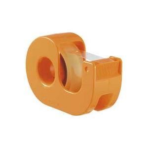 【送料無料】(業務用200セット) ニチバン ハンドカッター付セロテープCT-12DRO橙