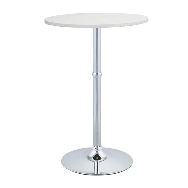 【送料無料】ハイテーブル(ラウンドテーブル/バーテーブル) 直径60×高さ90cm スチールフレーム ホワイト(白)
