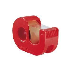 【送料無料】(業務用200セット) ニチバン ハンドカッター付セロテープCT-18DRR赤