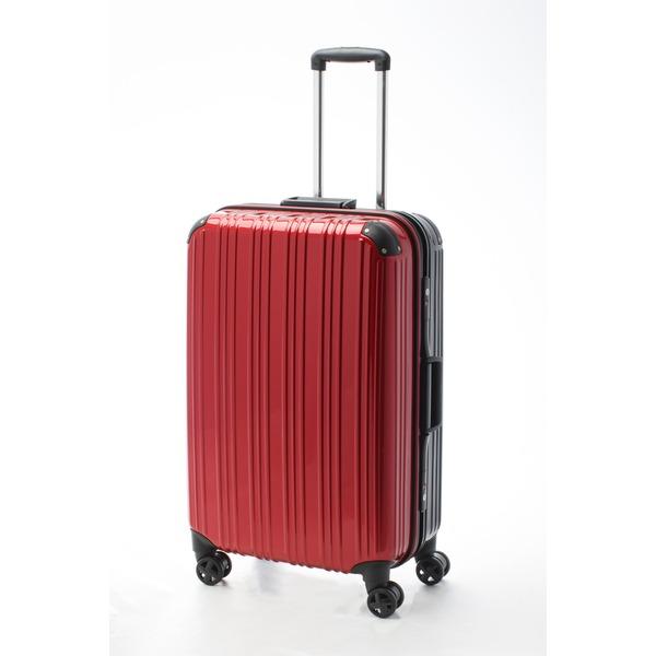 【送料無料】ツートンカラー スーツケース/キャリーバッグ 【Lサイズ レッド/ブラック】 72L 『アクタス』【代引不可】