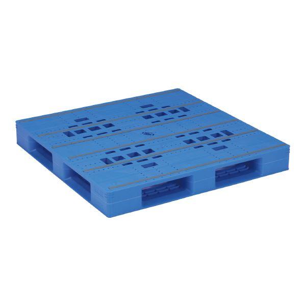 【送料無料】三甲(サンコー) プラスチックパレット/プラパレ 【片面使用タイプ】 軽量 LX-1212D4 ブルー(青)【代引不可】