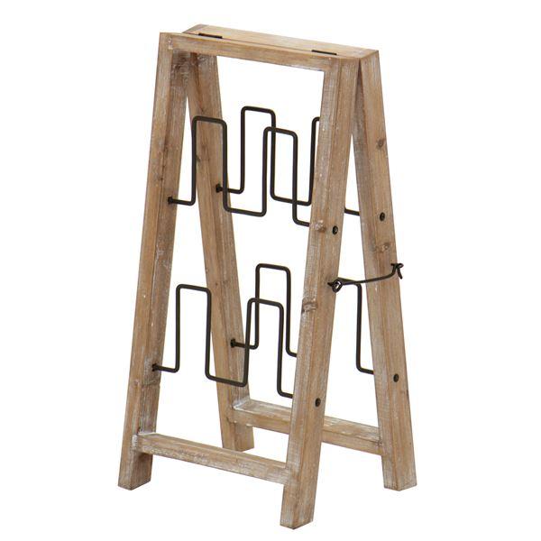 スリッパラック(スリッパ収納/スリッパ立て) 幅30cm 木製×スチール 【完成品】