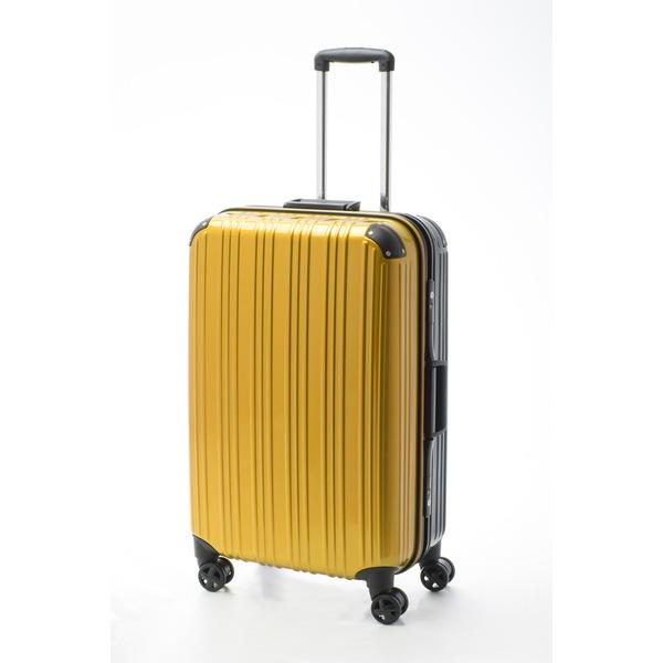 【送料無料】ツートンカラー スーツケース/キャリーバッグ 【Lサイズ イエロー/ブラック】 72L 『アクタス』【代引不可】