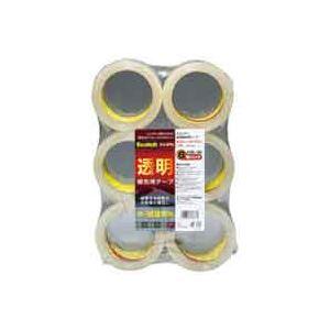 【送料無料】(業務用30セット) スリーエム 3M 透明梱包用テープ 6巻 313 6PN