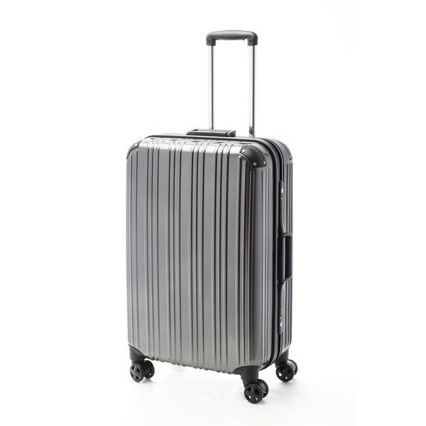 【送料無料】ツートンカラー スーツケース/キャリーバッグ 【Lサイズ カーボンブラック/ブラック】 72L 『アクタス』【代引不可】