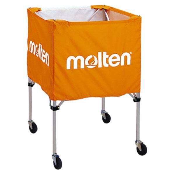 【送料無料】【モルテン Molten】 折りたたみ式 ボールカゴ 【屋外用 オレンジ】 幅63×奥行63cm キャスター ケース付き