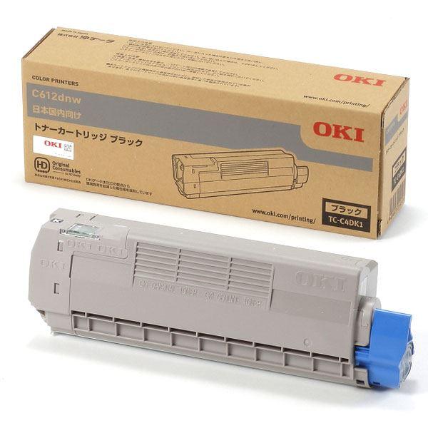 【送料無料】(業務用3セット) 【純正品】 OKI TC-C4DK1 トナーカートリッジ ブラック