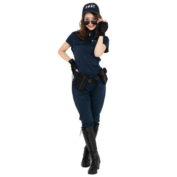 【送料無料】コスプレ衣装/コスチューム 【SWAT Lady スワットレディ】 レディース 『CLUB QUEEN』 〔ハロウィン イベント〕