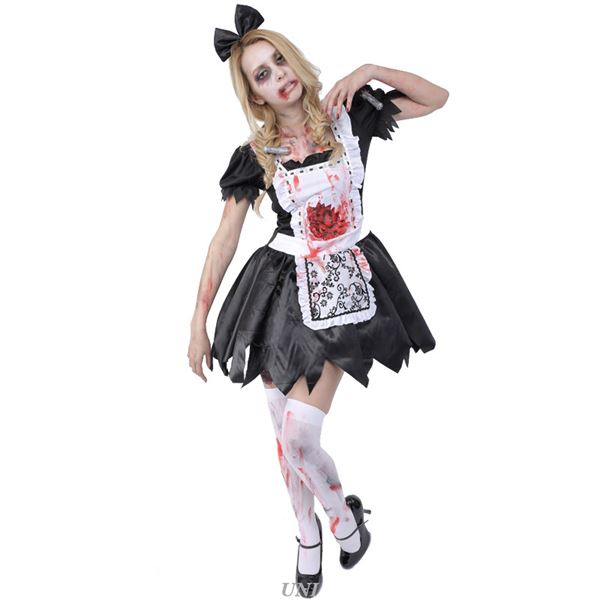 【送料無料】コスプレ衣装/コスチューム 【Maid ゾンビメイド】 ポリエステル 『ZOMBIE COLLECTION Zombie』 〔ハロウィン〕