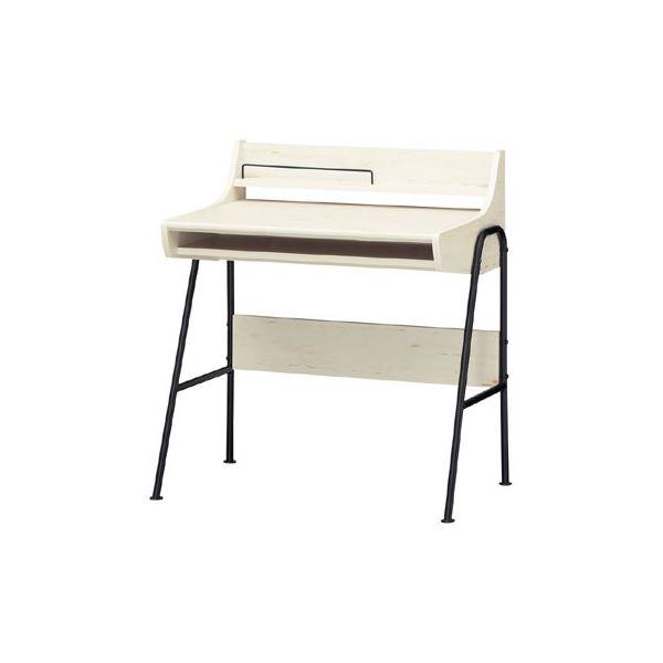 【送料無料】ロータイプパソコンデスク/学習机 【幅78cm×高さ85cm】 ホワイト 配線穴付き 『PASOPRI パソプリ』【代引不可】