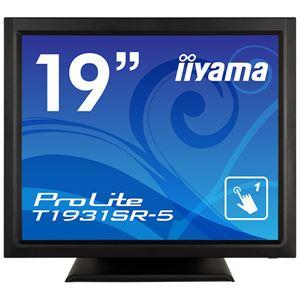 【送料無料】iiyama 19型タッチパネル液晶ディスプレイ ProLite T1931SR-5(抵抗膜方式/USB通信/シングルタッチ/防塵防滴/D-SUB/HDMI/DP) ブラック