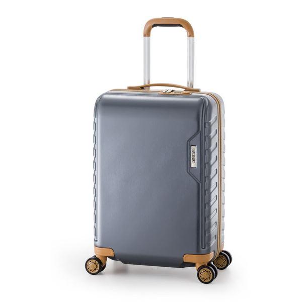 【送料無料】スーツケース/キャリーバッグ 【ガンメタ】 71L ダイヤル式 TSAロック アジア・ラゲージ 『MAX SMART』