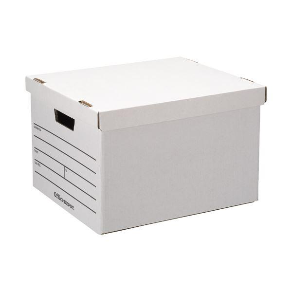 【送料無料】Office Depot ストレージボックス 10個 型番:STRBRWHITE10P