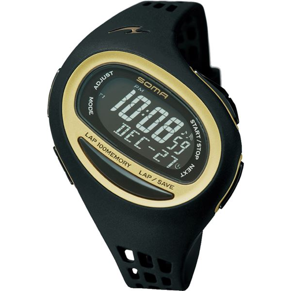 【送料無料】SOMA(ソーマ) RunONE 100SL MEDIUM SIZE(ランワン 100SL ミディアムサイズ) ブラック×ゴールド NS09006