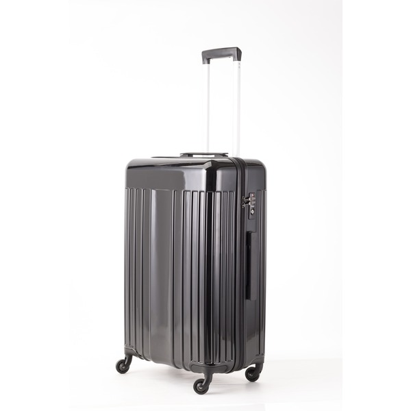 【送料無料】スーツケース/キャリーバッグ 【Mサイズ ブラック】 60L 『マンハッタンエクスプレス ワーゲン』【代引不可】