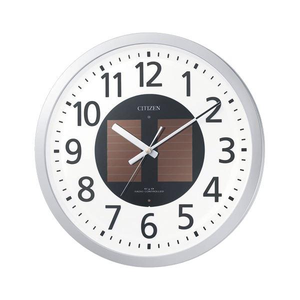 【送料無料】リズム時計工業 ソーラー電波掛時計 エコライフM815 4MY815-019