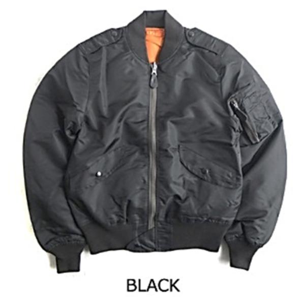 【送料無料】L-2B フライトジャケット 7448E モデル JJ170YN ブラック M 【 レプリカ 】