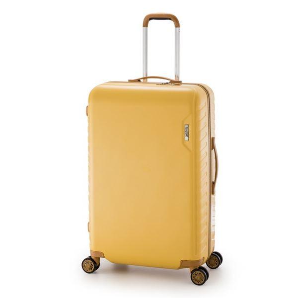 【送料無料】スーツケース/キャリーバッグ 【イエロー】 90L 手荷物預け無料最大サイズ ダイヤル式 アジア・ラゲージ 『MAX SMART』