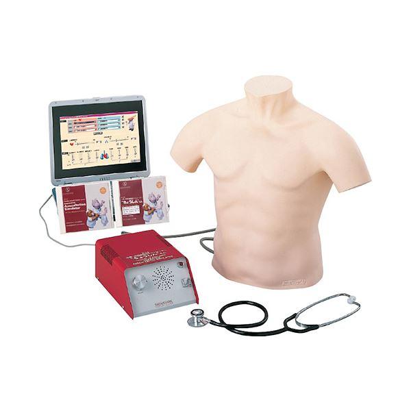聴診技術教育モデル/看護実習モデル人形 「ちょうしんくん」 スピーカー内蔵 胸部カバー付き M-164-0【代引不可】