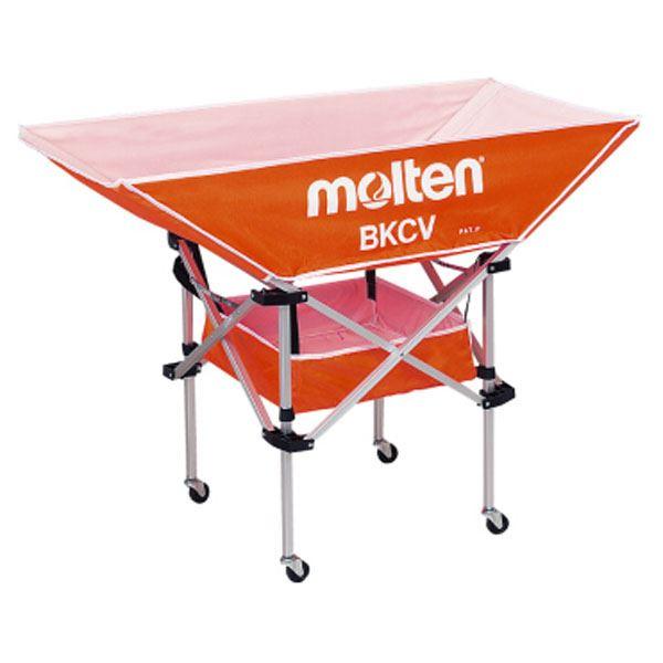 【送料無料】【モルテン Molten】 Molten】 折りたたみ式 平型軽量 ボールカゴ 幅128×奥行63cm オレンジ】【背低 オレンジ】 幅128×奥行63cm キャスター ケース付き, HEALTY:46ff5429 --- sunward.msk.ru