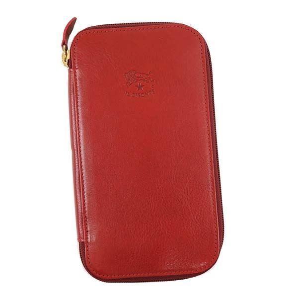 【送料無料】IL BISONTE(イルビゾンテ) ラウンド長財布 C0442 245 RUBY RED