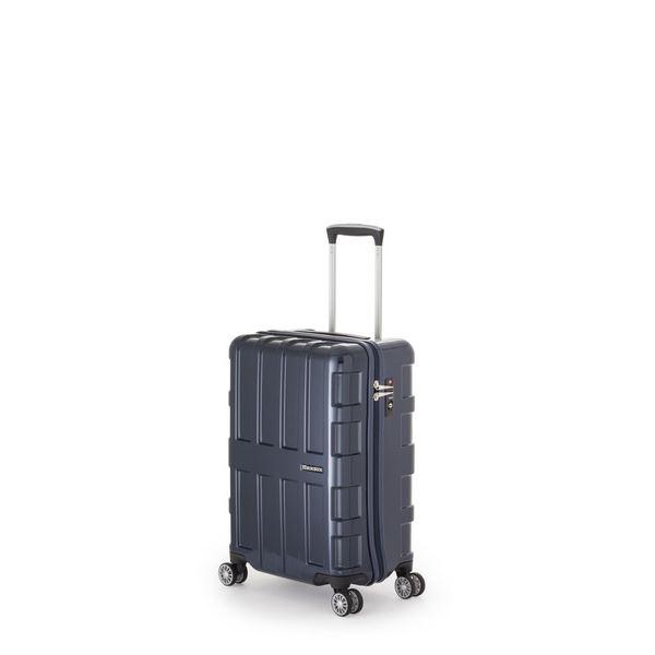 【送料無料】ファスナー式スーツケース/キャリーバッグ 【オールネイビー】 40L 機内持ち込み可能サイズ アジア・ラゲージ 『MAX BOX』