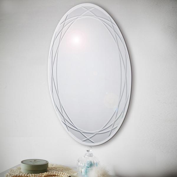 ノンフレーム ウォールミラー/壁掛け鏡 【幅45cm×奥行3cm×高さ60cm】 飛散防止加工【代引不可】