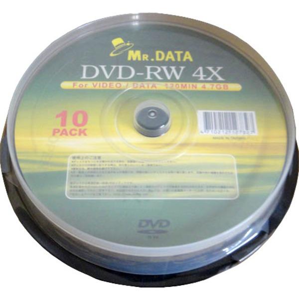 【送料無料】データ用DVD-RW 4.7GB 4倍速 10枚入 DVD-RW47-4X10PS×20P 【20個セット】