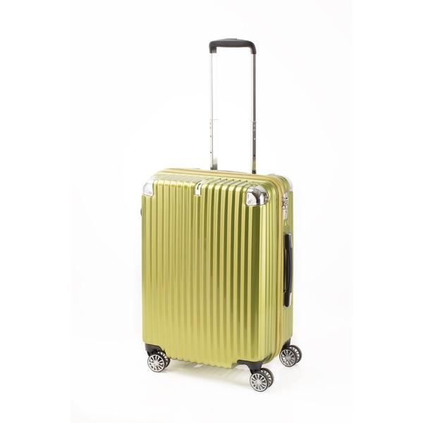 【送料無料】スーツケース/キャリーバッグ 【ジッパー式 ライムヘアライン】 Mサイズ 60L 『トラベリスト ストロークII』【代引不可】