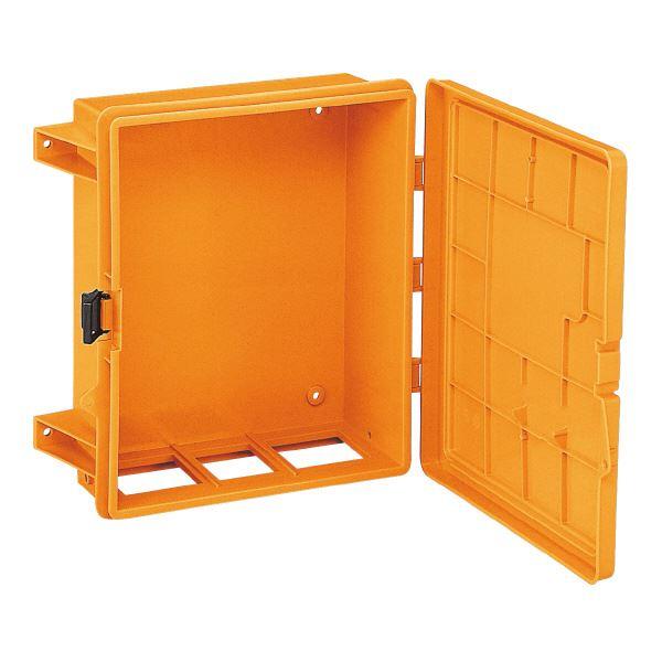 三甲(サンコー) 仮設分電盤ボックス/スイッチボックス 【1型】 プラスチック製 軽量 オレンジ【代引不可】