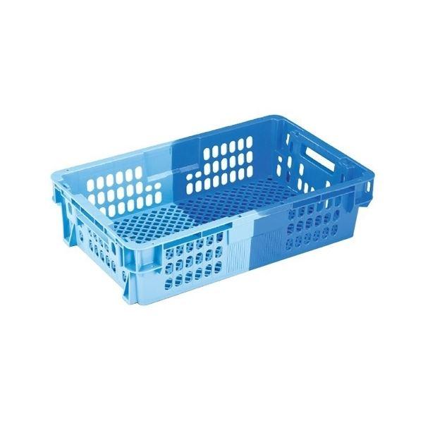 【送料無料】【5個セット】 業務用コンテナボックス/食品用コンテナー 【NF-M21C】 ダークブルー/ブルー 材質:PP【代引不可】