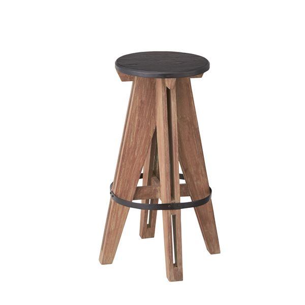 【送料無料】アイザック ハイスツール チェア 木製(天然木) 高さ65cm NW-857