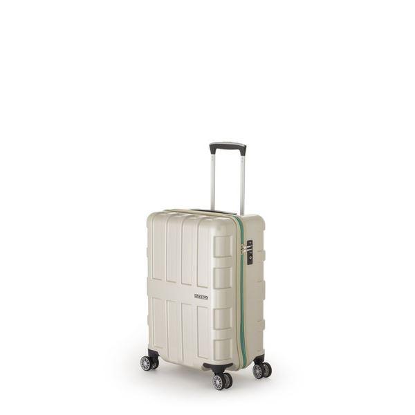 【送料無料】ファスナー式スーツケース/キャリーバッグ 【パールホワイト】 40L 機内持ち込み可能サイズ アジア・ラゲージ 『MAX BOX』