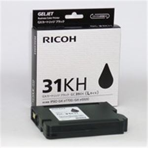 【送料無料】(業務用3セット) RICOH(リコー) GXカートリッジ GC31KH ブラック