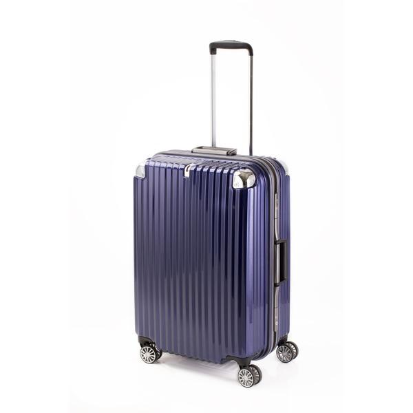 【送料無料】スーツケース/キャリーバッグ 【ブルーヘアライン】 Mサイズ 75L 『トラベリスト ストロークII』【代引不可】
