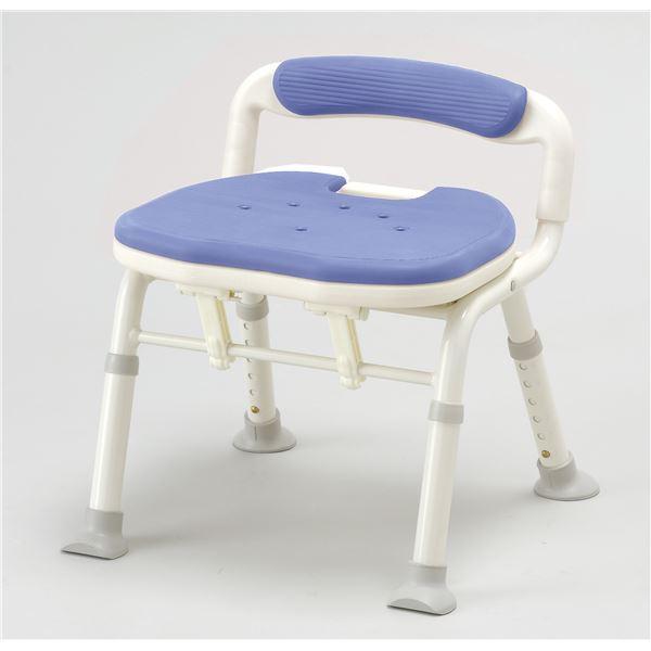 【送料無料】アロン化成 シャワーチェア コンパクト折リタタミシャワーベンチIC骨盤サポート ブルー 536-380