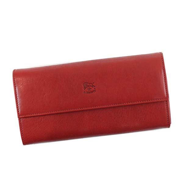 【送料無料】IL BISONTE(イルビゾンテ) フラップ長財布 C0918 245 RUBY RED