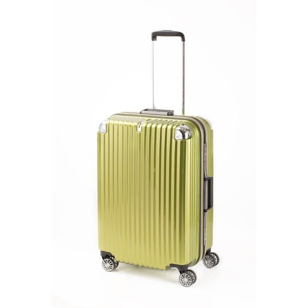 【送料無料】スーツケース/キャリーバッグ 【ライムヘアライン】 Mサイズ 75L 『トラベリスト ストロークII』【代引不可】