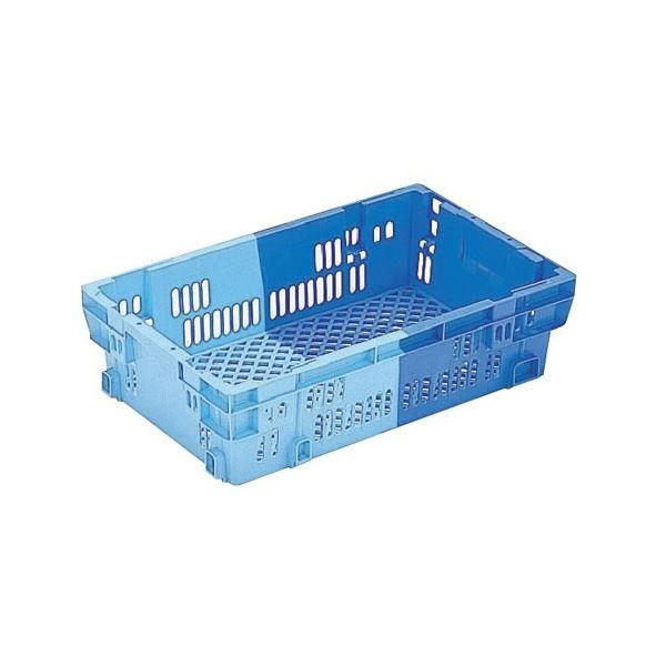 【10個セット】 業務用コンテナボックス/食品用コンテナー 【NF-M24】 ダークブルー/ブルー 材質:PP【代引不可】