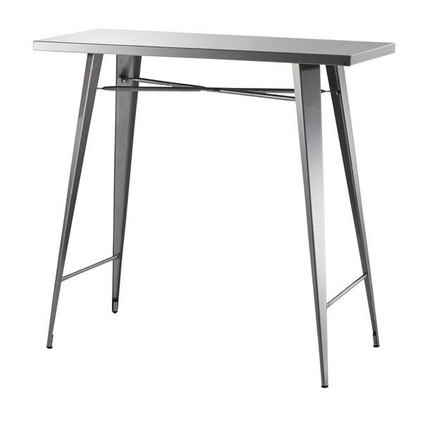 【送料無料】ステンレス製カウンターテーブル/ハイテーブル 【幅105cm】 STN-336 〔ディスプレイ家具 什器〕
